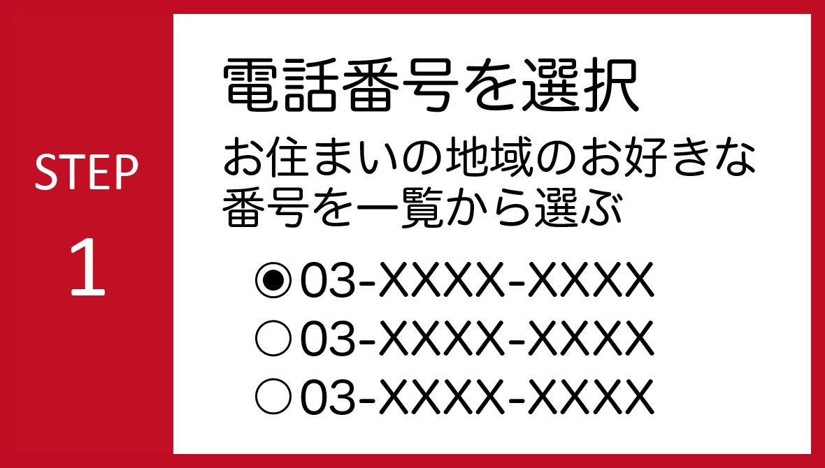 STEP01:電話番号を選択