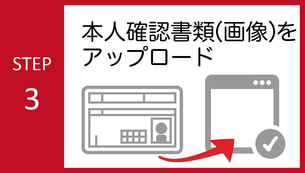 STEP03:本人確認書類のアップロード