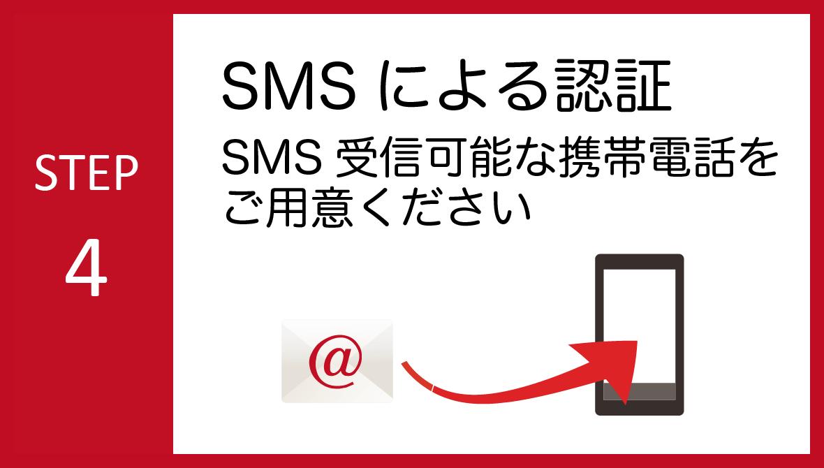 STEP04:SMSによる認証