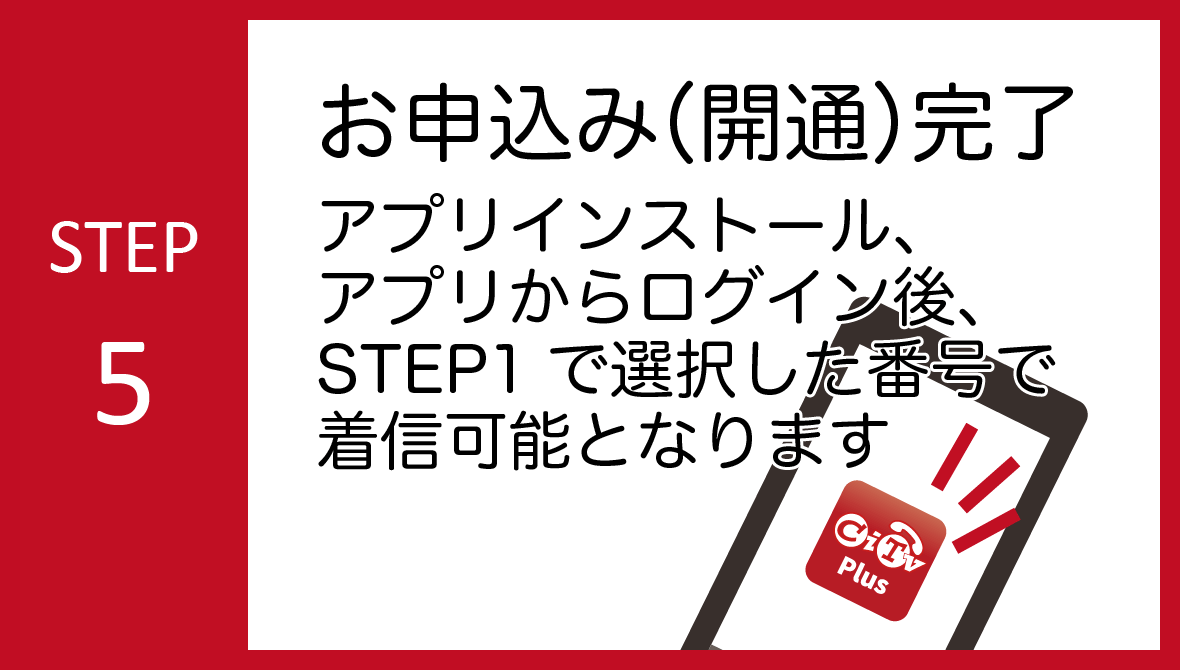 STEP05:お申込み完了